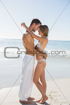 Gorgeous couple embracing