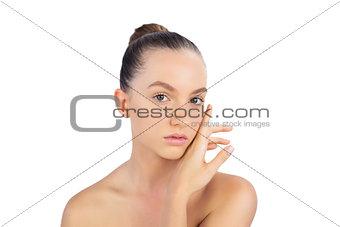 Beautiful young model posing