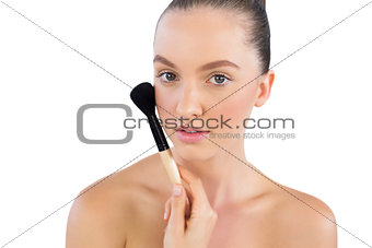 Attractive young model with powder brush