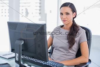 Attractive dark haired businesswoman