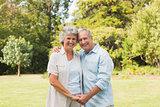 Happy mature couple smiling
