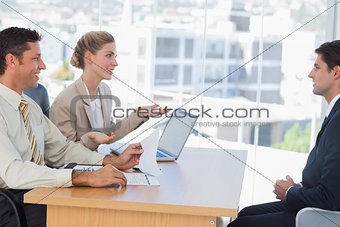 Business people having an interview