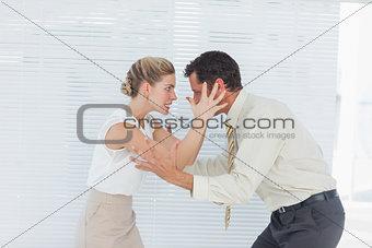 Business team having heated argument