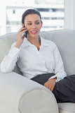 Serious businesswoman having a call