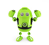 Powerful Android Robot. Technology concept.