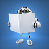 Android robot reading book