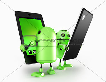 Androids with tablet