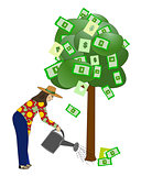 Watering the Money Tree