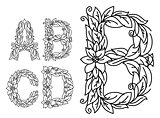Title letters in floral style