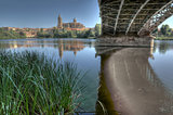 Under the Bridge of Sanchez Fabres in Salamanca