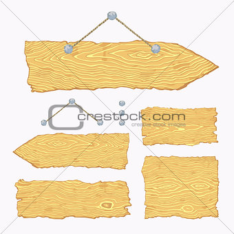 Blank wooden signs (hanging and light)