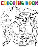 Coloring book Halloween owl 1