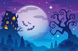 Halloween topic background 1