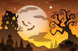Halloween topic background 2