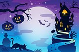 Halloween topic background 3
