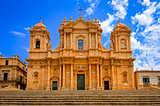 Baroque style cathedral in old town Noto, Sicily