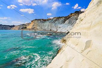 Beautiful ocean beach Scala dei Turchi in Sicily