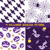 Halloween seamless patterns collection