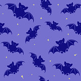 Halloween seamless pattern with bats