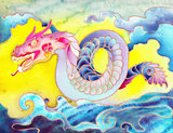 Colorful Oriental Dragon
