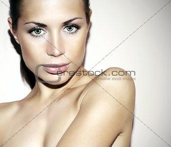 Beautiful glamorous female face