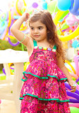 Beautiful little girl on birthday party