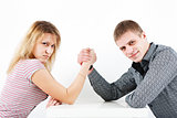family armwrestling