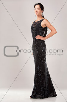 woman in evening dress