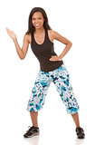 woman exercising zumba
