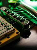 Electric guitar strings and bridge macro