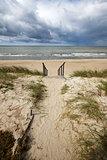 Stormy summer sea