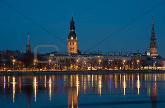 Riga - evening view