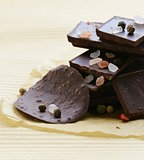 gourmet dark chocolate with  pepper and sea salt