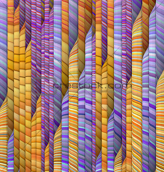 abstract orange purple backdrop fragmented