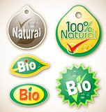 Natural and bio product labels