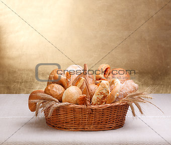 Assorted bakery products