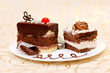 Cakes on plate
