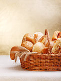 Assortment of bakery products