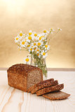 Loaf with wild flowers