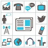 Communication. Set icons