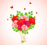 Background with beauty roses