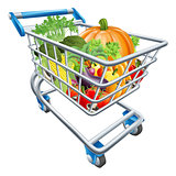 Vegetable Shopping Cart Trolley
