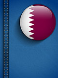 Qatar Flag Button in Jeans Pocket Vector