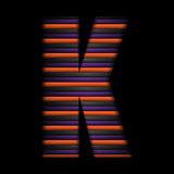 Halloween Alphabet Letters Stripe Black Orange Purple Vector