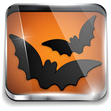Halloween Bat Icon Button Application Vector