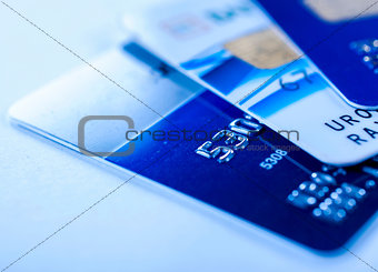 Close up to credit cards