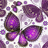 Seamless spring white pattern