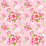 Oriental Flower Seamless Pattern Background