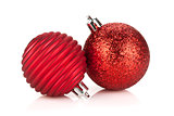 Christmas red bauble decoration