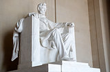 Statue of Abraham Lincoln seated at the Lincoln Memorial, Washington DC